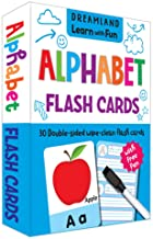FLASH CARDS ALPHABET - 30 DOUBLE SIDED WIPE CLEAN FLASH CARDS FOR KIDS (WITH FREE PEN)