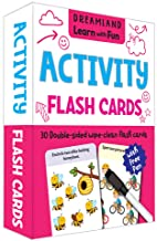 FLASH CARDS ACTIVITY  - 30 DOUBLE SIDED WIPE CLEAN FLASH CARDS FOR KIDS (WITH FREE PEN)