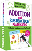 FLASH CARDS ADDITION AND SUBTRACTION  - 30 DOUBLE SIDED WIPE CLEAN FLASH CARDS FOR KIDS (WITH FREE PEN)