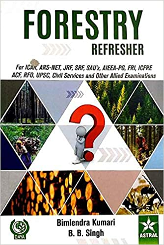 FORESTRY REFRESHER: FOR ICAR, ARS – NET, JRF, SRF, SAU'S AIEEA – PG, FRI, ICFRE, ACF RFO, UPSC CIVIL SERVICES AND OTHER ALLIED EXAMINATIONS