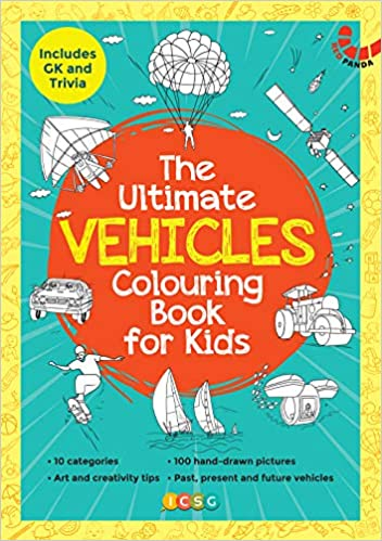 THE ULTIMATE VEHICLES COLOURING BOOK FOR KIDS