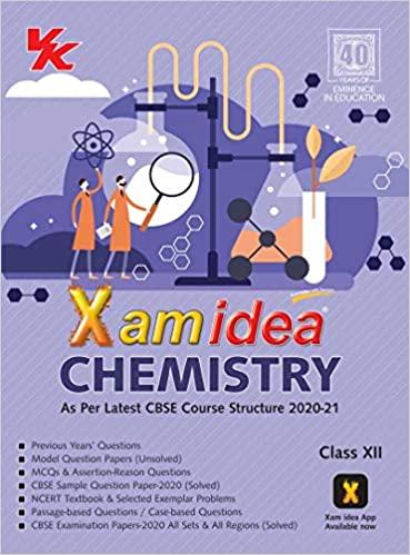 XAM IDEA CHEMISTRY -CLASS 12 - CBSE (2020-21)