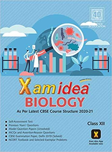 Xam Idea Biology -Class 12 - CBSE (2020-21)