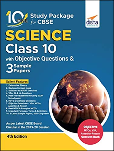 10 IN ONE STUDY PACKAGE FOR CBSE SCIENCE CLASS 10 WITH OBJECTIVE QUESTIONS & 3 SAMPLE PAPERS 4TH EDITION