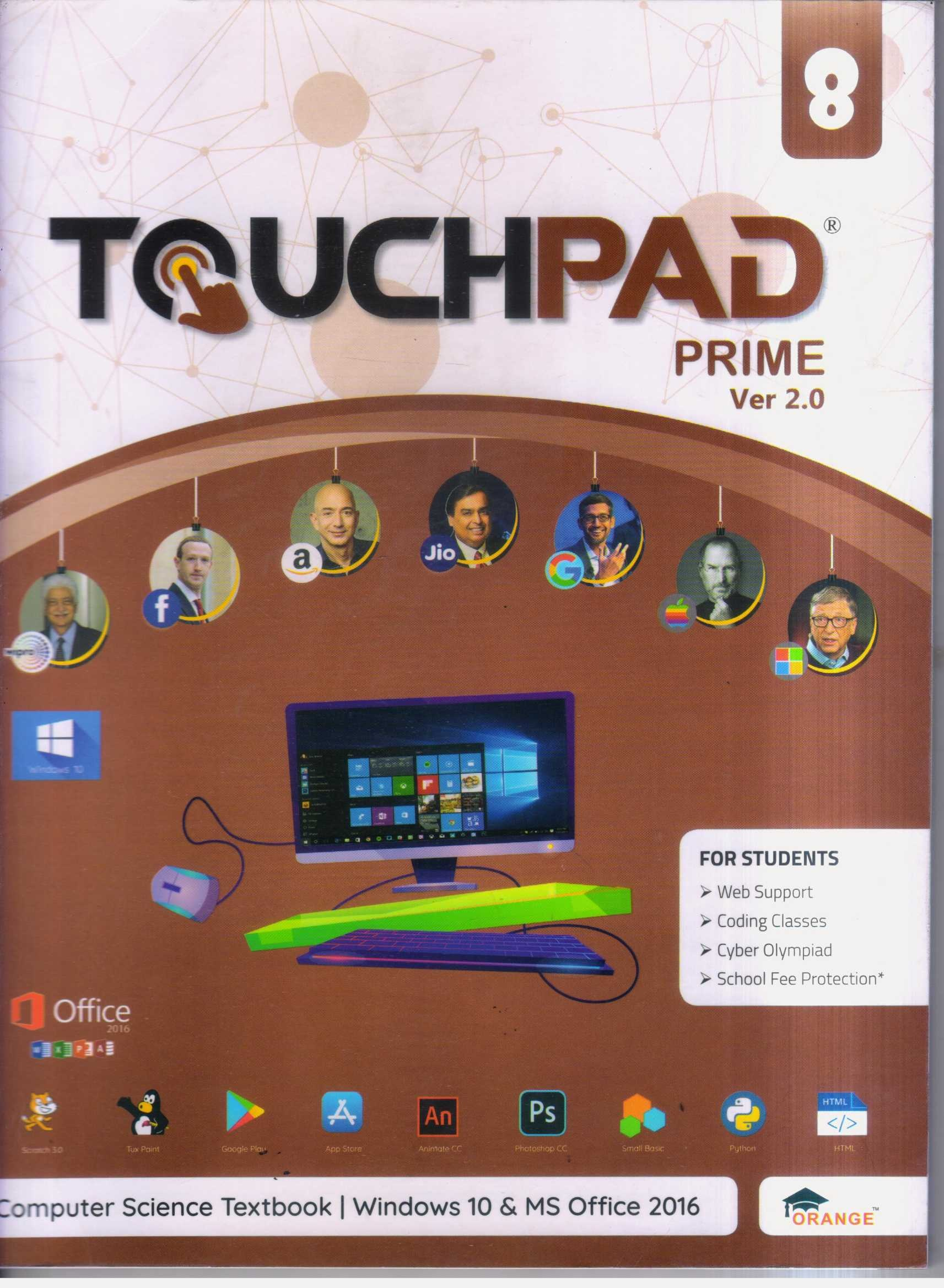 Touchpad Computer Book Prime Ver 2.0 Class 8