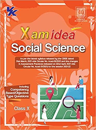 Xamidea Social Science CBSE Class 10 Book (For 2022 Exam)