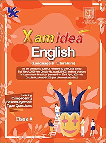 Xamidea English Language and Literature CBSE Class 10 Book (For 2022 Exam)
