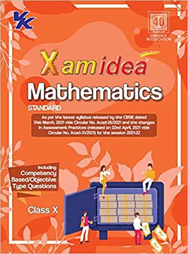XAMIDEA MATHEMATICS CBSE CLASS 10 BOOK (FOR 2022 EXAM)